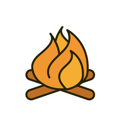 fire flame hot nature drawing vector image