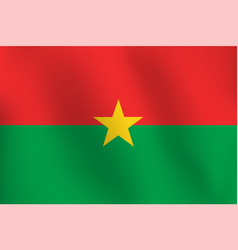flag of burkina faso - vector image
