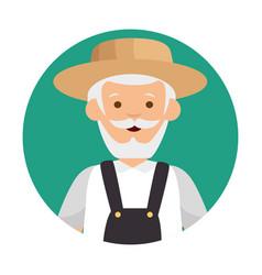 Gardener avatar character icon vector