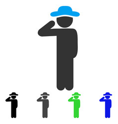 Gentleman salute flat icon vector