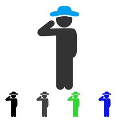 Gentleman salute flat icon vector