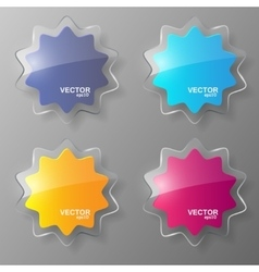 Glass stars set vector