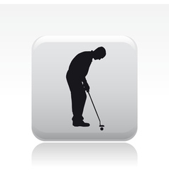 golf player icon vector image vector image