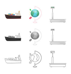 Goods and cargo icon set vector