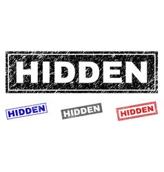 Grunge hidden scratched rectangle watermarks vector