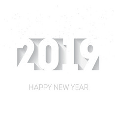happy new year 2019 three-dimensional elegant vector image