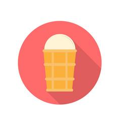 ice cream in flat design vector image