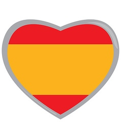 Isolated Spanish flag vector image