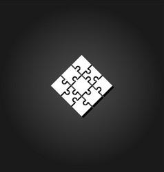 jigsaw icon flat vector image