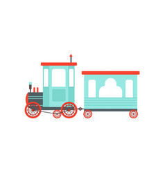 kids cartoon toy train cute railroad toy with vector image
