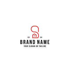 Letter s home logo design vector