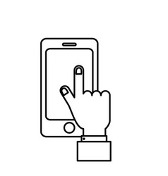 line smartphone technology communication in the vector image
