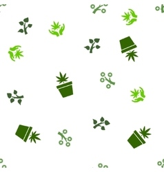 Medical Plant Seamless Flat Pattern vector