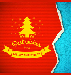 merry christmas colorful background vector image