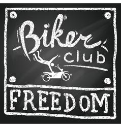 Motobikers club poster vector