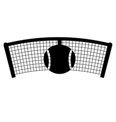 net tennis sport equipment icon vector image