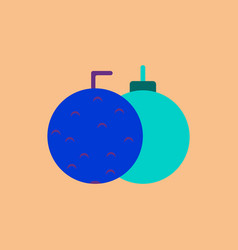 New year balls in flat style vector
