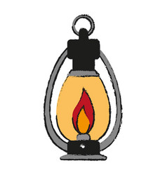 Oil lamp camping related icon image vector