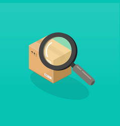 parcel or order tracking vector image