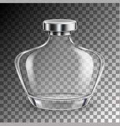 Perfume glass bottle vector