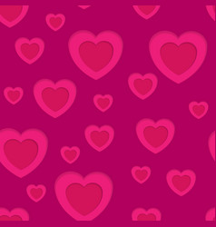 Pink hearts abstract seamless background vector