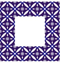 Porcelain indigo frame vector