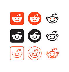 reddit social media icons vector image