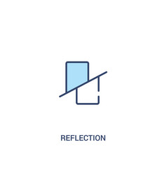 Reflection concept 2 colored icon simple line vector