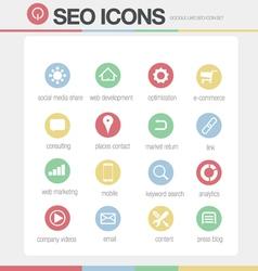 SEO Google like icons set volume 2 vector image