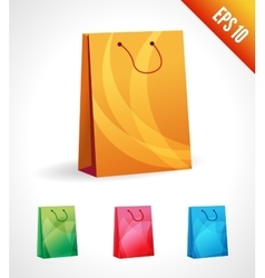 Set of a shopping bag vector
