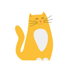 smiling ginger cat pet closeup vector image