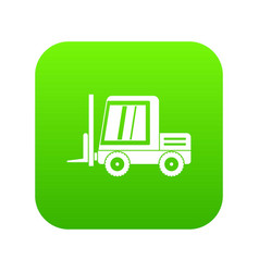 Stacker loader icon digital green vector