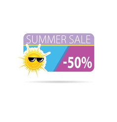 sun with summer sale vector image