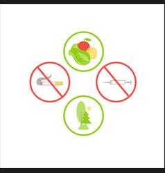 Symbols flat design icons set infographics vector