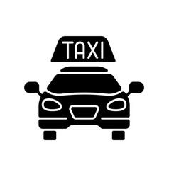 taxis black glyph icon vector image