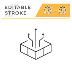 technology editable stroke line icon vector image