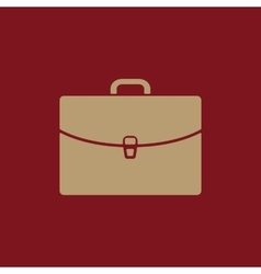 The briefcase icon Portfolio symbol Flat vector image