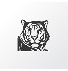 tiger icon symbol premium quality isolated vector image
