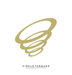 tornado logo design concept template hurricane vector image