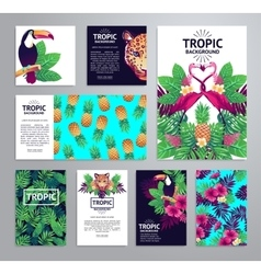 Tropical printable set vector image