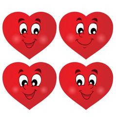 Valentine hearts thematic set 1 vector