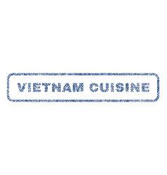 vietnam cuisine textile stamp vector image