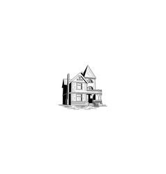 vintage house logo icon vector image