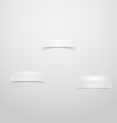 Wall with three niches stages for product placing vector image