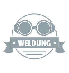 weldung logo simple gray style vector image