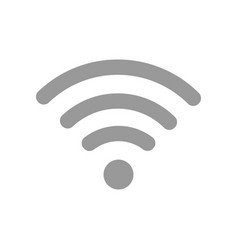wifi icon flat vector image