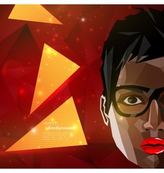 With a black african american woman face in vector