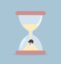 Businessman Trapped in Hourglass vector image