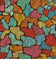 Colorful Seamless Pattern Of Giraffe Skin vector image