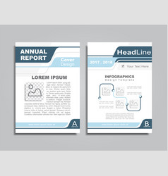 design brochure layout with place for your text vector image vector image